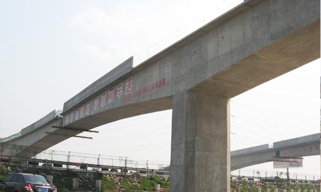 无锡市轨道交通1线桥转体工程(到位后)