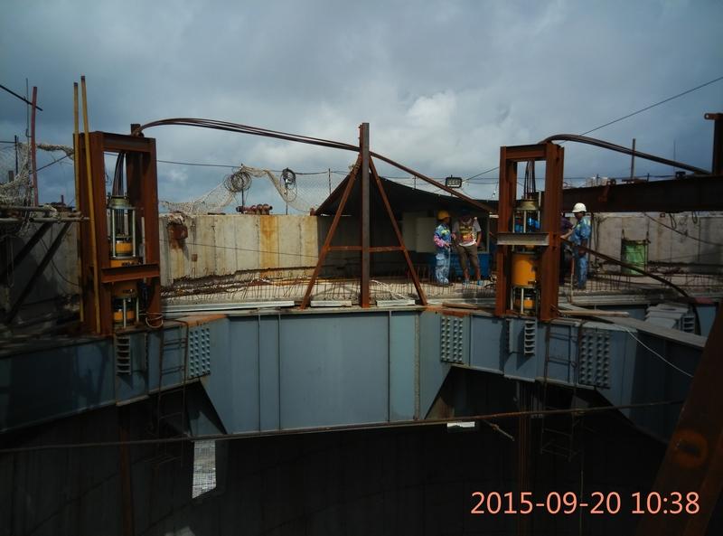 防城港电厂烟囱钢结构提升工程