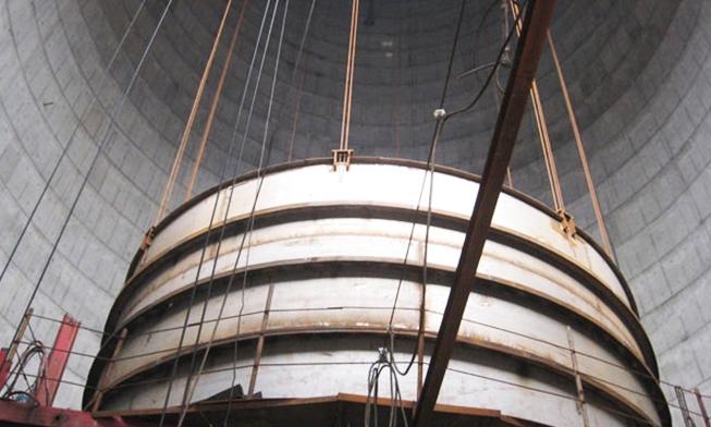 福州可门火电厂钢内筒提升工程