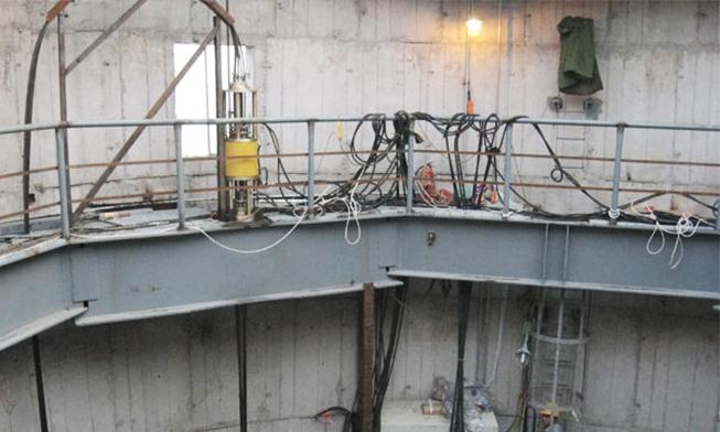 长春热电厂烟囱钢内筒提升