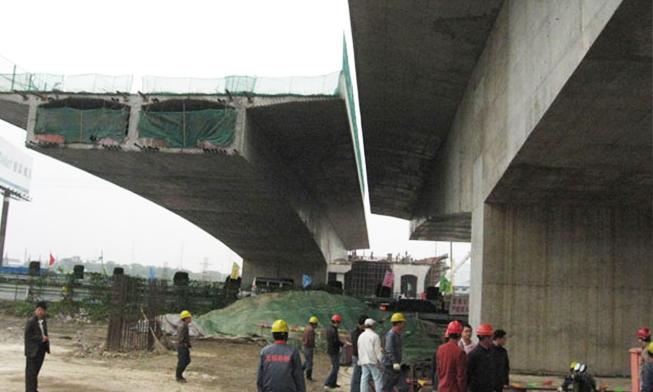 无锡市高浪路跨线桥同步转体工程
