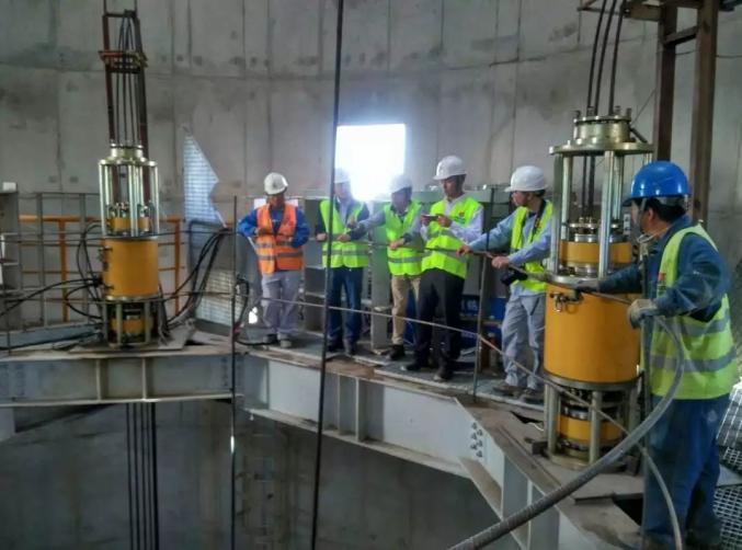 摩洛哥杰拉达电厂烟囱钢结构提升工程